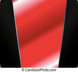 vecteur, graphique, arrière-plan rouge, espace