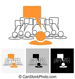 vecteur, graphique, &, ), (, -, conversation, concept, parole, bulles, éditorial, personnel