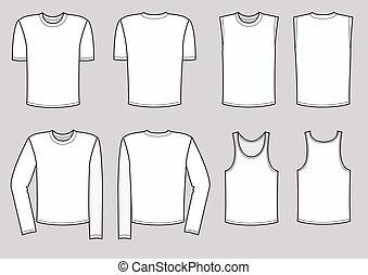 vecteur, hommes, habillement, illustration., vêtements