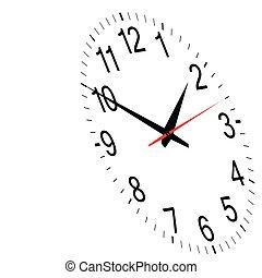 vecteur, horloge, temps