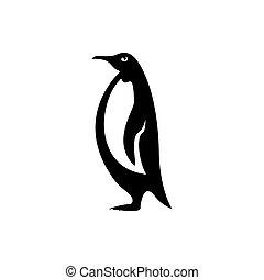vecteur, icône, manchots, logo