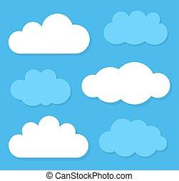 vecteur, illustration, clouds.
