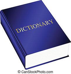 vecteur, illustration, dictionnaire