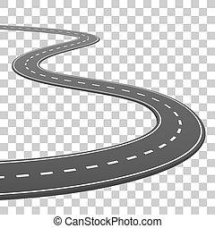 vecteur, illustration, fond, va, horizon, transparent, route
