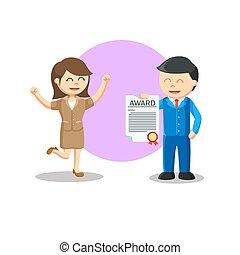 vecteur, illustration, information, ami, récompense