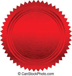 vecteur, illustration, rouges, cachet