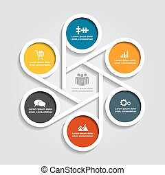 vecteur, infographic, éléments, conception, illustration, icons.