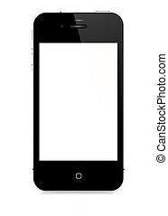 vecteur, -, iphone, 4s