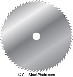 vecteur, lame, scie, illustration
