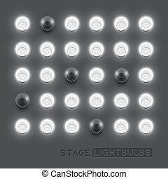 vecteur, lightbulbs
