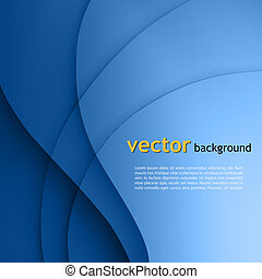 vecteur, lignes, lisser, torsade, lumière bleue, arrière-plan.