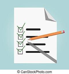 vecteur, liste, chèque