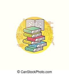 vecteur, livre, collection