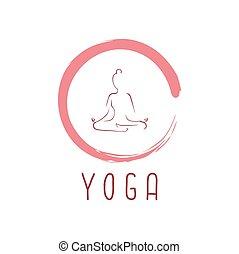 vecteur, logo, conception, zen, yoga