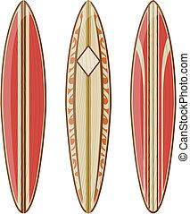 vecteur, longboards