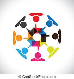 vecteur, média, concept, &, communication, interaction, social, graphic-
