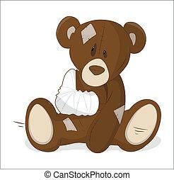 vecteur, malsain, teddy