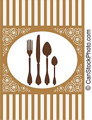 vecteur, menu, restaurant, carte