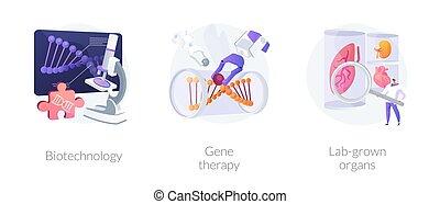 vecteur, metaphors., biomédical, concept, ingénierie, moléculaire