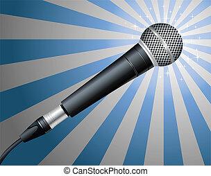 vecteur, microphone., illustration