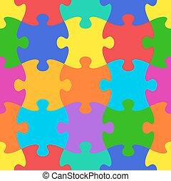 vecteur, modèle, puzzle, puzzle, seamless