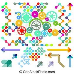 vecteur, moderne, illustration.eps, éléments, conception, -