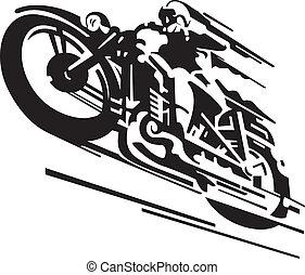 vecteur, motocyclette, fond