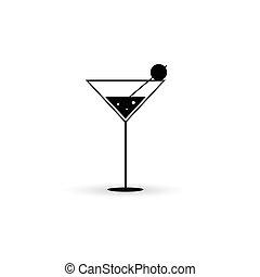 vecteur, noir, boisson