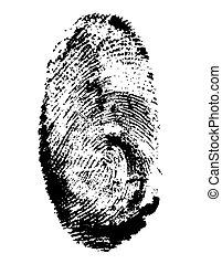 vecteur, noir, illustration, empreinte doigt