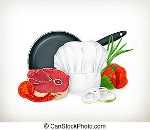 vecteur, nourriture, illustration