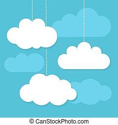 vecteur, nuages