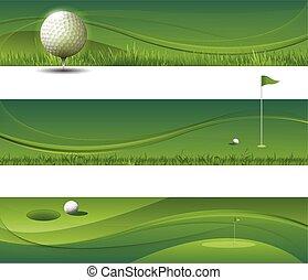 vecteur, onduler, fond, golf, résumé