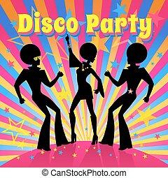 vecteur, partie., illustration., disco