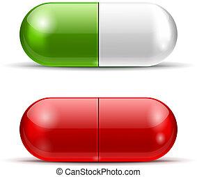 vecteur, pilules