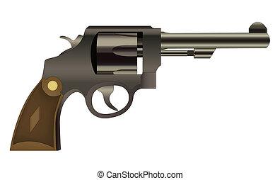 vecteur, pistolet, isolé