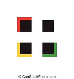 vecteur, points, résumé, mosaïque, carrée, logo, coloré