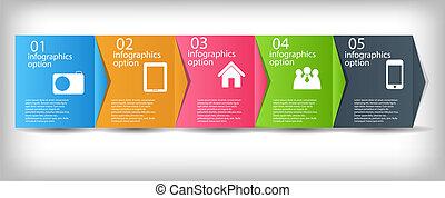 vecteur, processus, améliorations, illustration affaires, concept, chart.