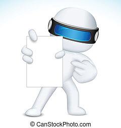 vecteur, projection, carte, vide, 3d, business, nan