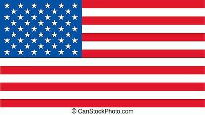vecteur, proportions., tout, uni, usa, fédéral, original, proportions, cadre, tailles, drapeau, mâts, etats, 10834, standard., s'accorder, amérique, ordre, officiel