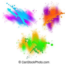 vecteur, résumé, éléments, conception, coloré