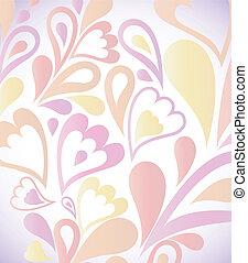 vecteur, résumé, floral., fond, coloré