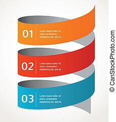 vecteur, résumé, infographics, fond, conception, icône
