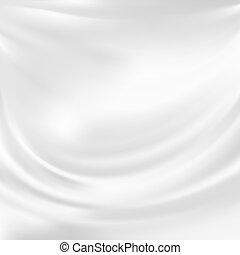 vecteur, résumé, soie, blanc, texture