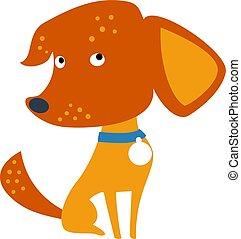 vecteur, race, chien, ou, mélangé, ensemble, rigolote, métis