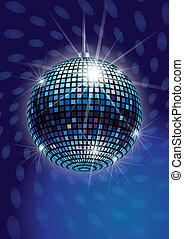 vecteur, refléter balle, disco