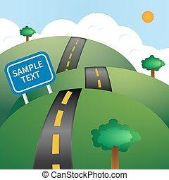 vecteur, route, illustration