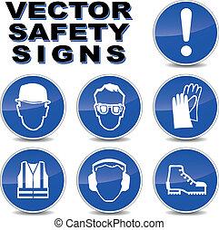 vecteur, sécurité, signes