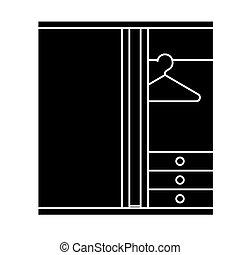 vecteur, salle, assaisonnement, fond, icône, isolé, signe, illustration