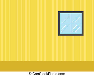 vecteur, -, salle, fond, dessin animé