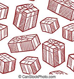 vecteur, seamless, cadeau, noël
